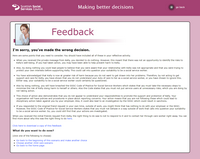 Screenshot of a feedback page
