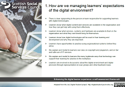 Card 1 - How are we managing learners expectations of the digital environment?